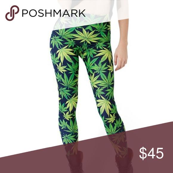Weed Leggings Women Star Maple Leaf Print Leggings Pants Leggings