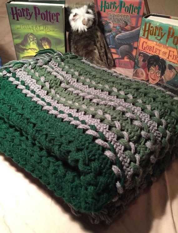 Harry Potter Slytherin Themed Full Length Afghan Harry