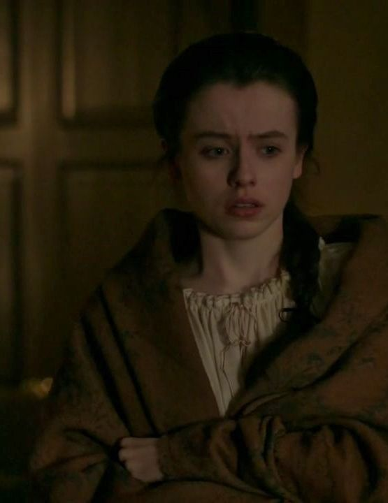 "Mary Hawkins (Rosie Day) in Episode 211 ""Vengeance is Mine"" of Outlander Season Two on Starz"