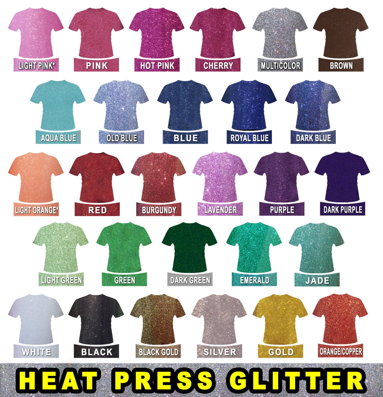 Vinyl sheets for crafts - 5 Sheets 8 X12 Glitter Flex Ultra Heat Press Thermal Transfer Vinyl T