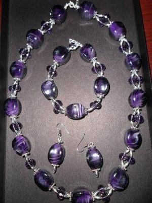 Amethyst Bead Necklace Design Idea - Purple Rain: Amethyst beads ...