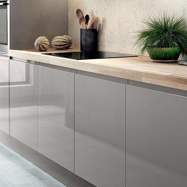 Download Wallpaper White Glass Effect Kitchen Worktops