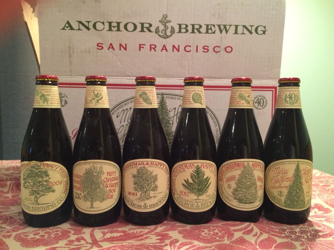 Anchor Steam Christmas Ale.The Last Six Years Worth Of Anchor Steam Christmas Ale