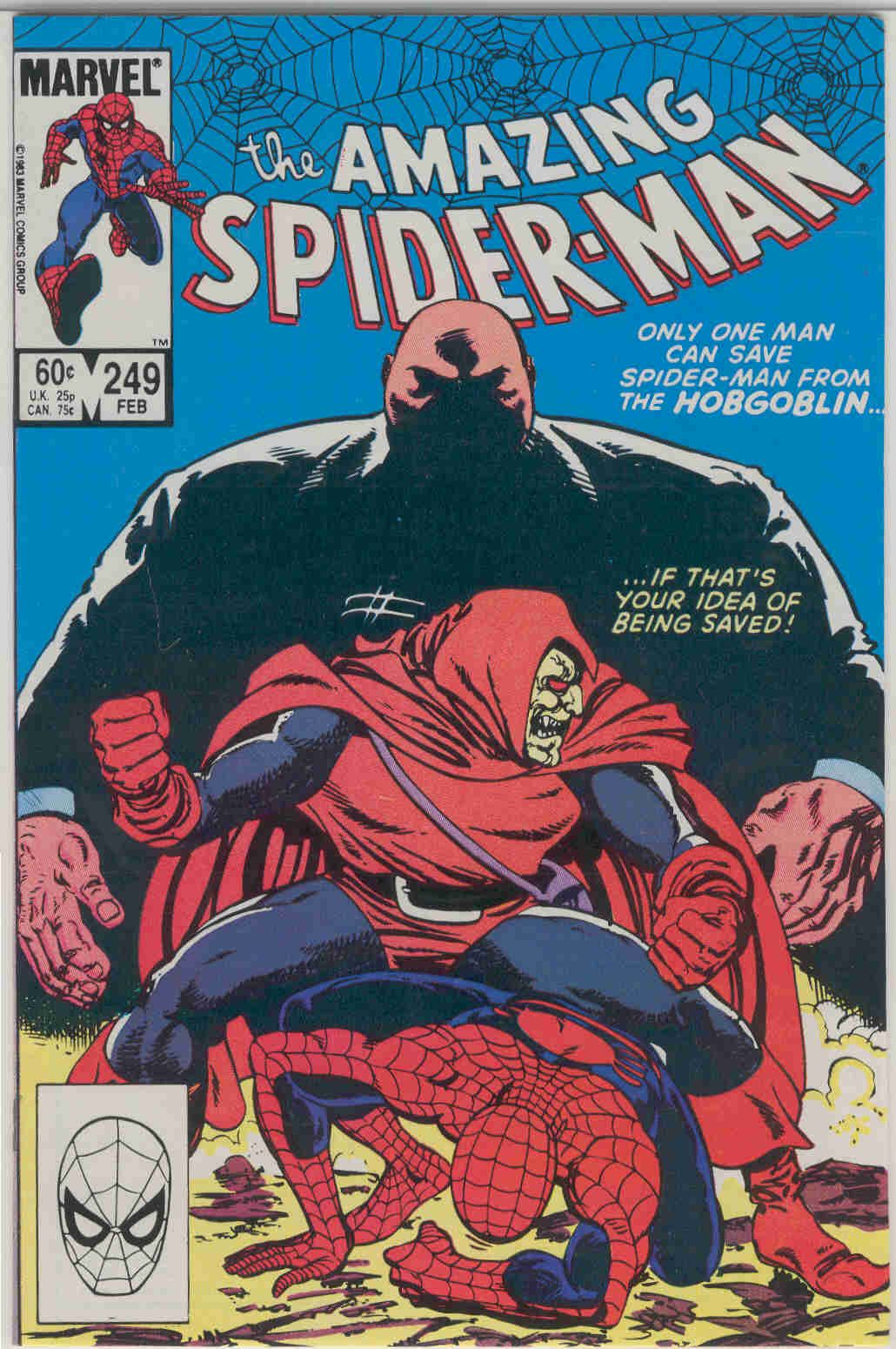 Title: Amazing Spider-Man   Year: 1963   Publisher: Marvel   Number: 249   Print: 1   Type: Regular   TitleId: bba0d660-be80-4eaa-888f-48e95a3afb72