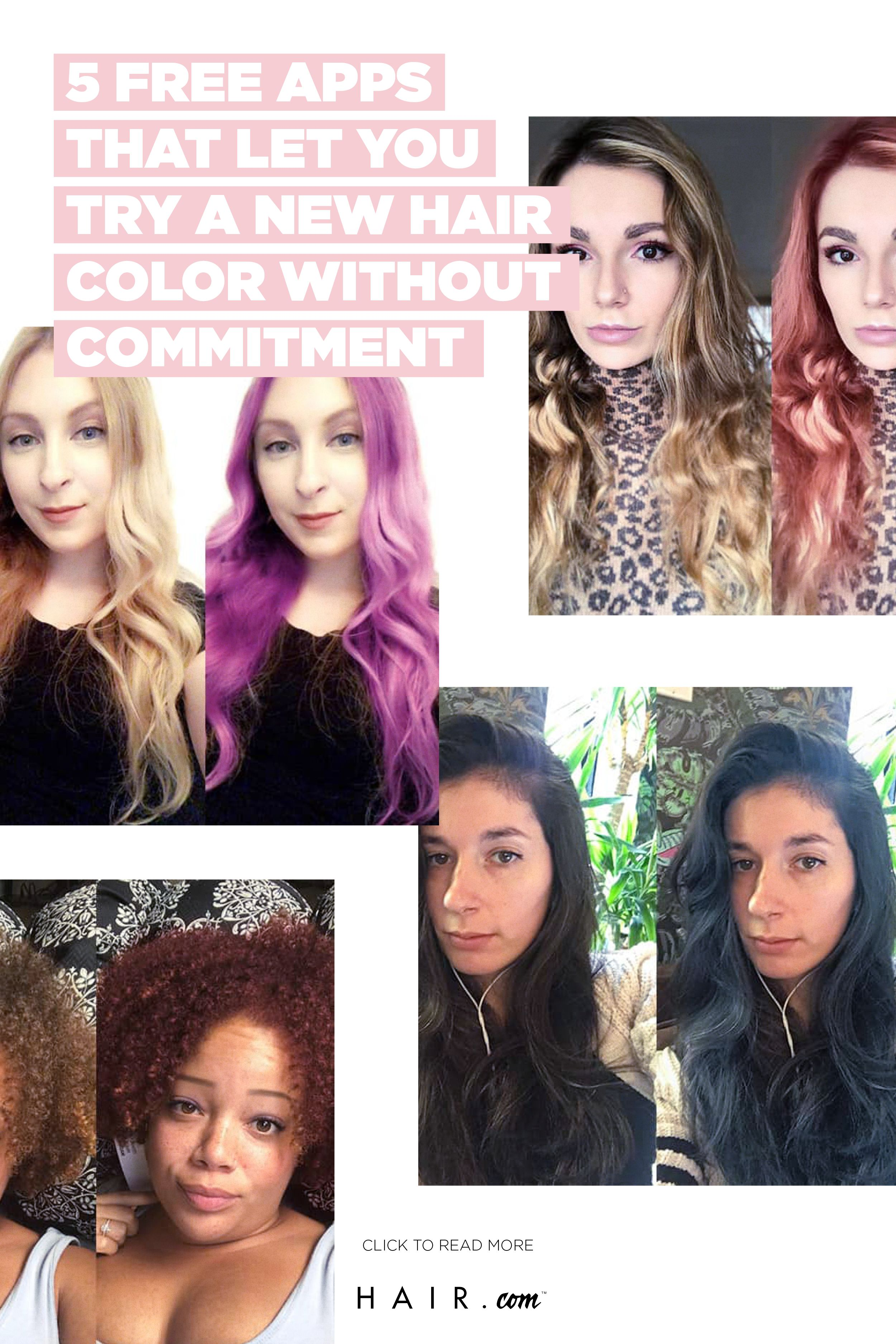 5 Free Apps That Let You Try A New Haircolor Change Hair Color Hair Colour App Hair Color