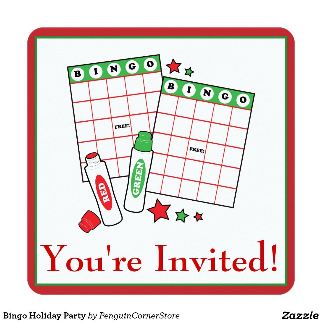 Bingo Holiday Party Card | Our Recently Sold Designs | Pinterest ...