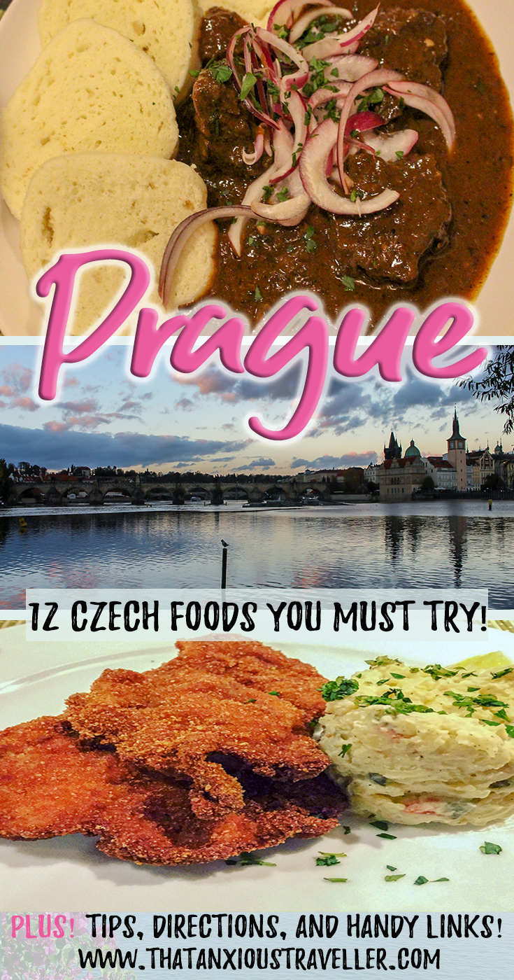 Prague Food Guide - The Traditional Czech Foods You Must Try. Read up and learn what to expect when you're in the finest restaurants in Prague! With tips, meal recommendations, and a guide on where to find the best food in the Czech Republic! #prague #food #czech #traditional #travel #thatanxioustraveller #czechfood