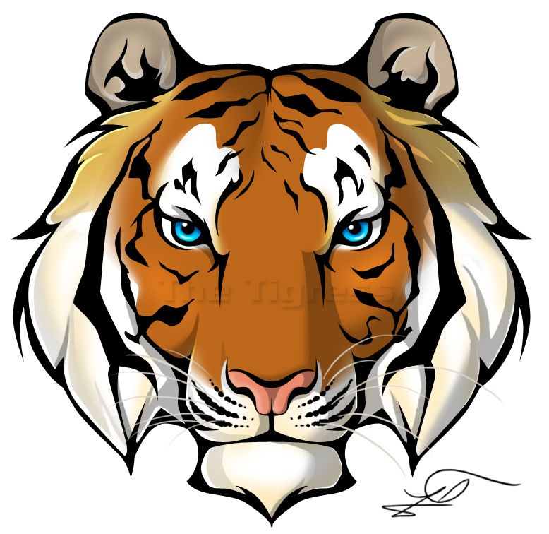 I Love The Simplicity Of This Tiger Face Art Tiger Head Tattoo