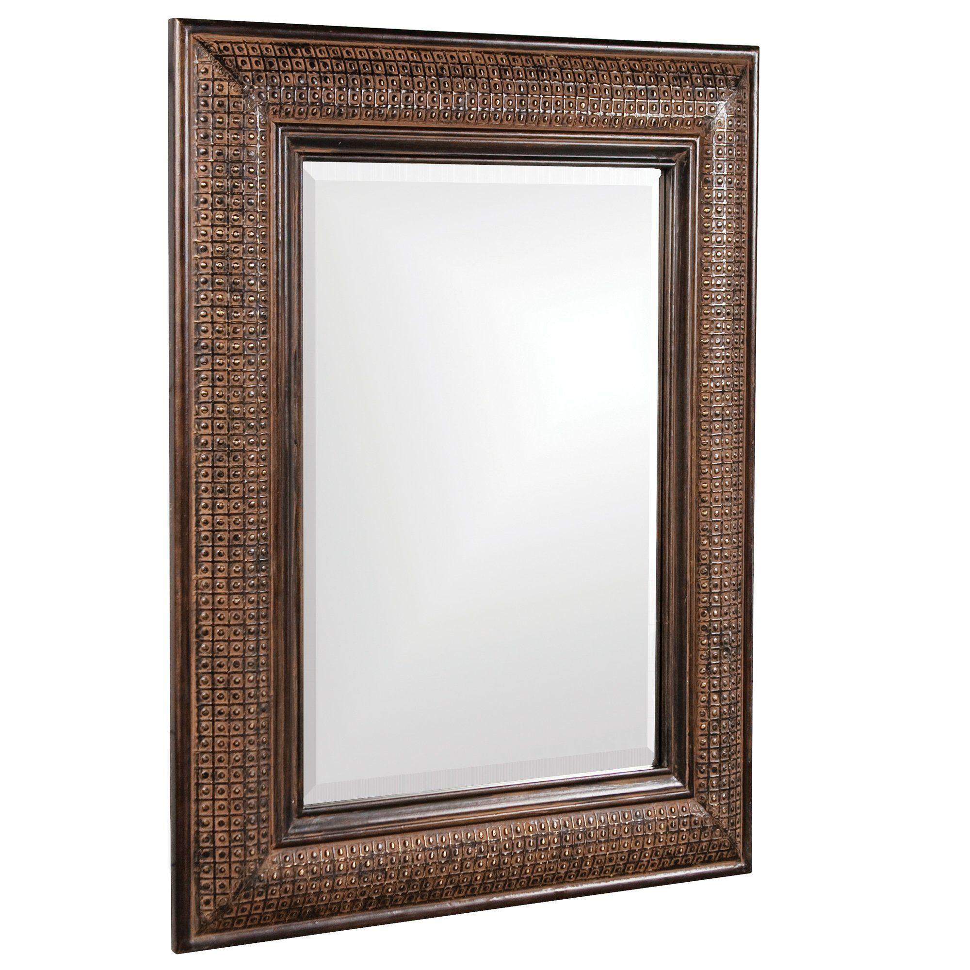 Howard Elliott 37045 Grant Rectangular Mirror Wood Frame Covered By