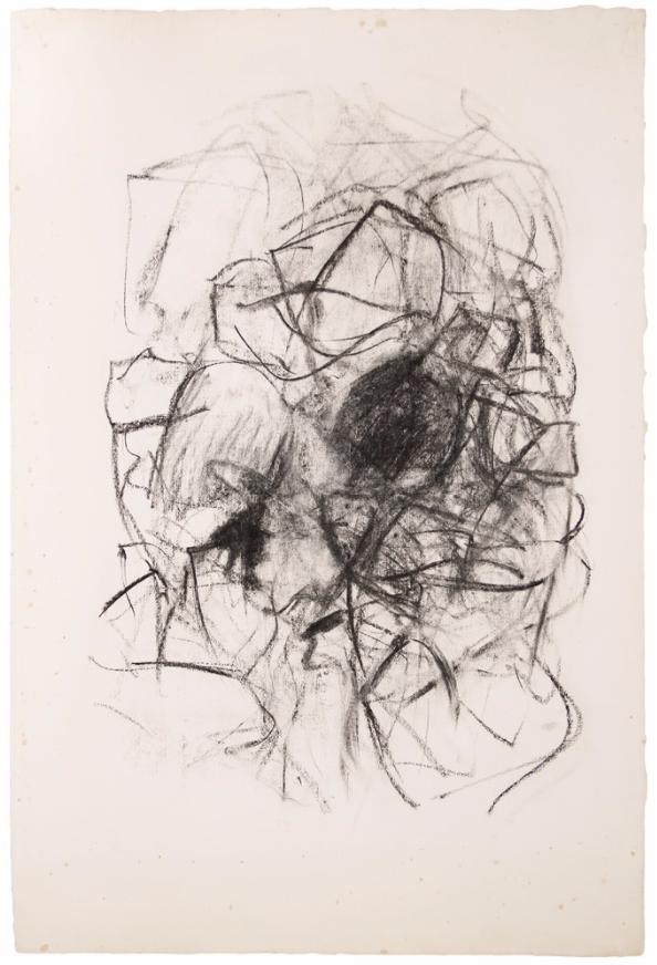 herzogtum-sachsen-weissenfels:  Joan Mitchell (American, 1925-1992), Untitled, 1967.Charcoal on paper, 91.4 x 61 cm.
