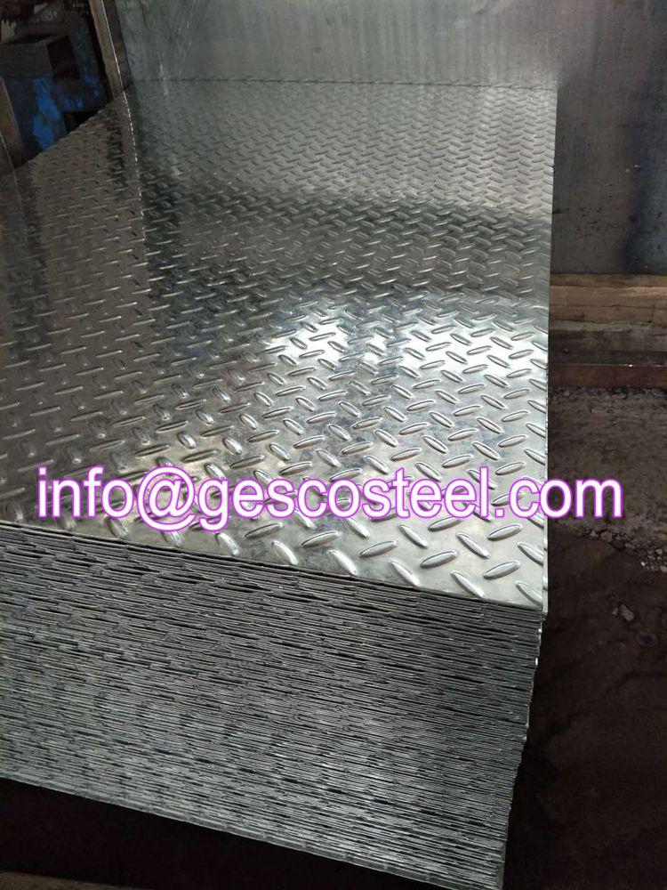 Galvanized Checkered Steel Plate Galvanized Steel Galvanized Steel Sheet Galvanized Roofing