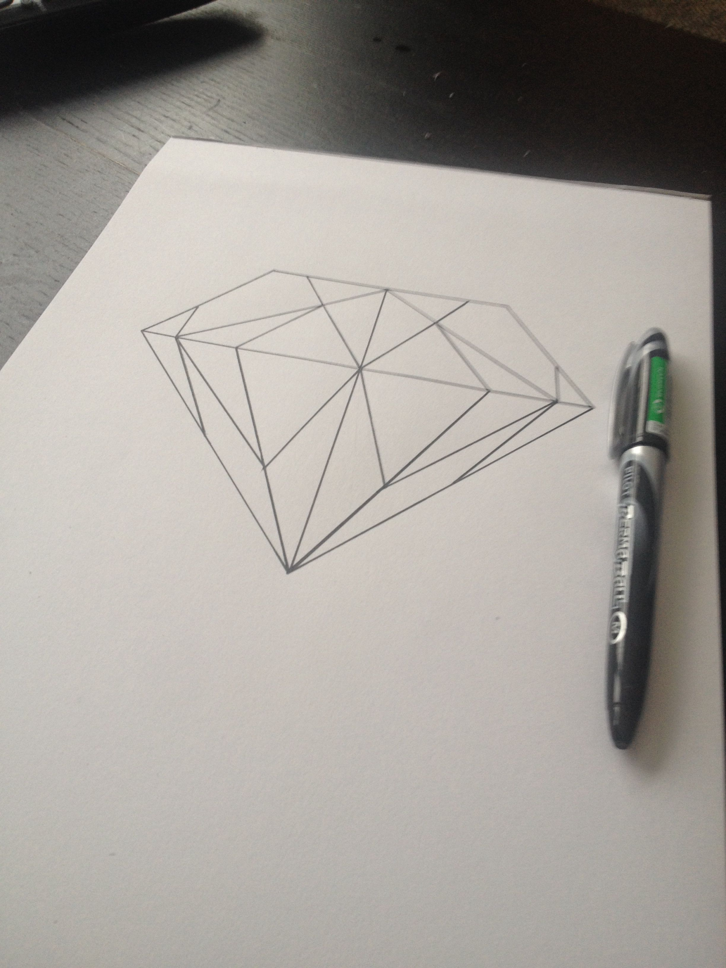 Line Drawing Diamond : Diamond drawing. art pinterest drawing draw and doodles