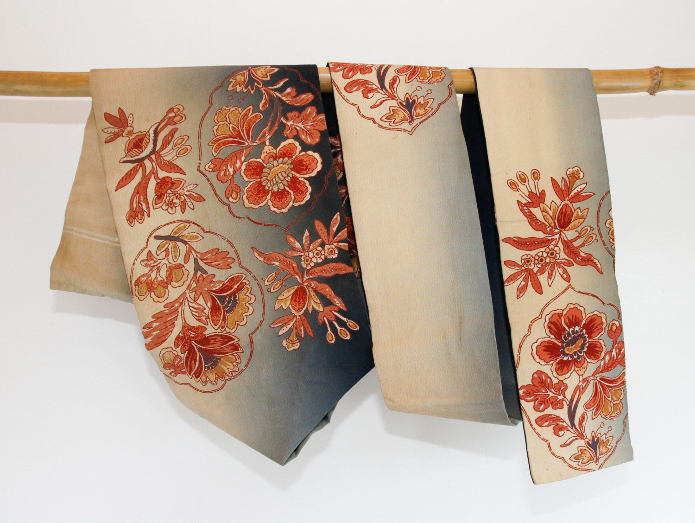 Kimono Cushion the large flower Vintage Obi