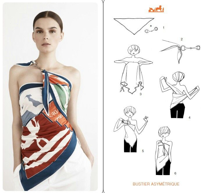 How to wear a scarf for clothing, top. Ideas. Tutorial