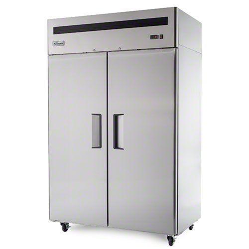 Supera F2r 1 52 Solid 2 Door Freezer Steel Restaurant Commercial Kitchen Solid Doors