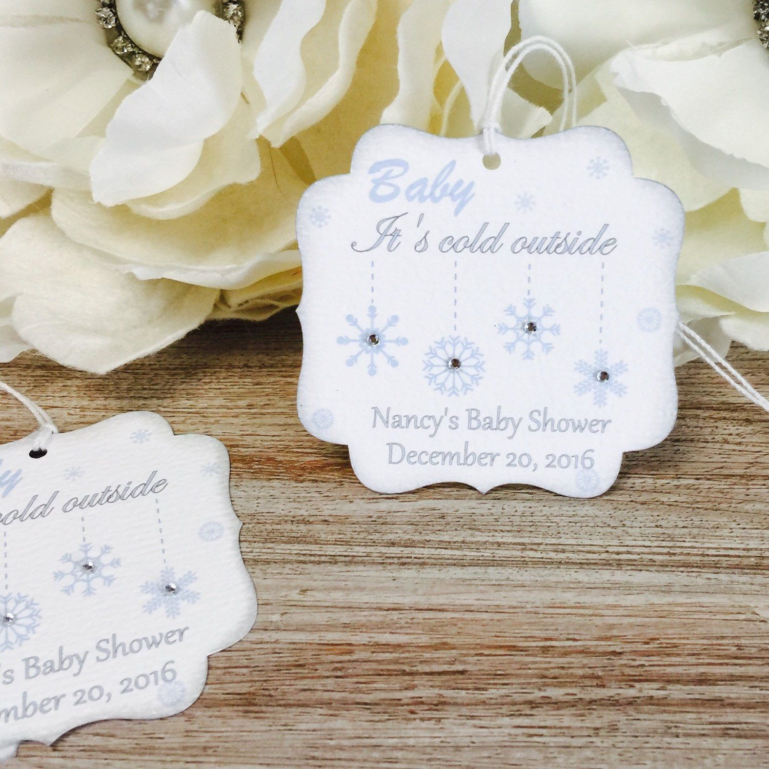 Baby it\'s cold outside baby shower favor tag, Winter baby shower ...