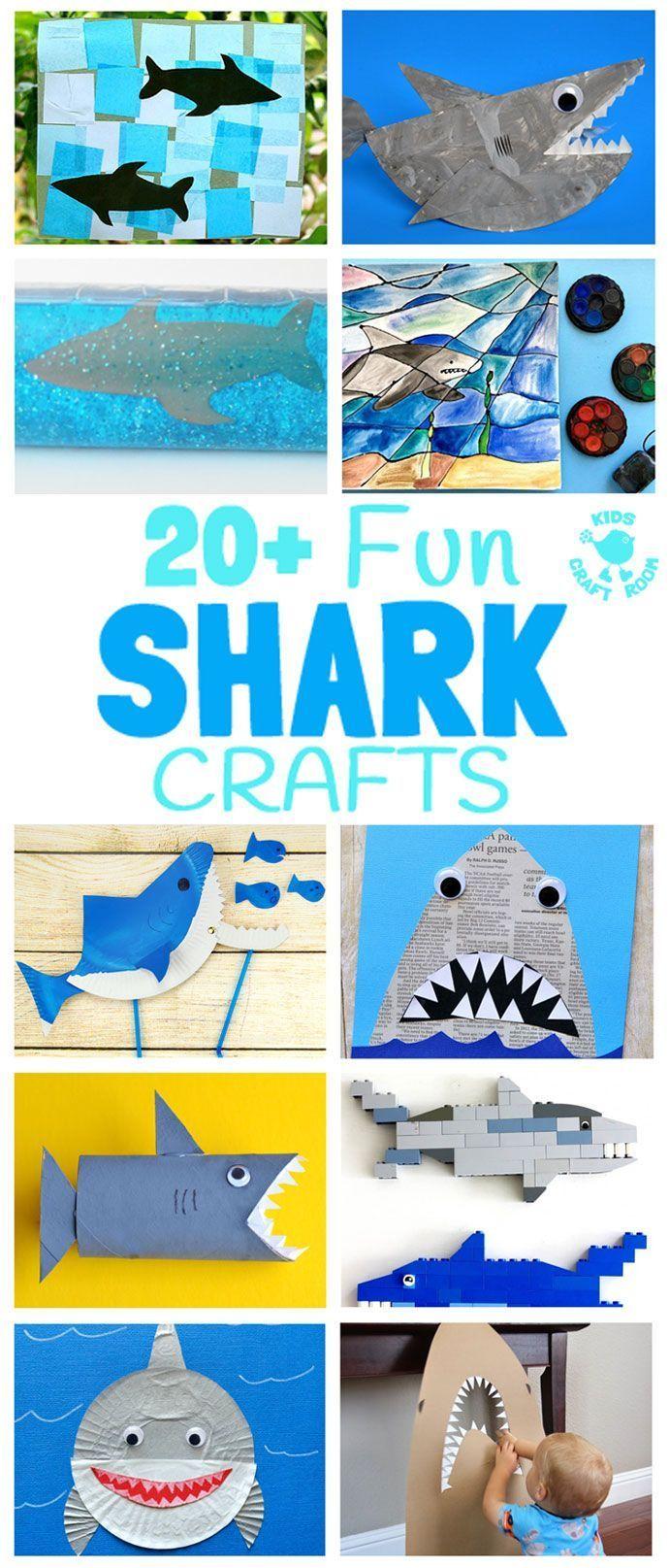 20+ Fun Shark Crafts | Shark craft, Shark week crafts, Shark activities