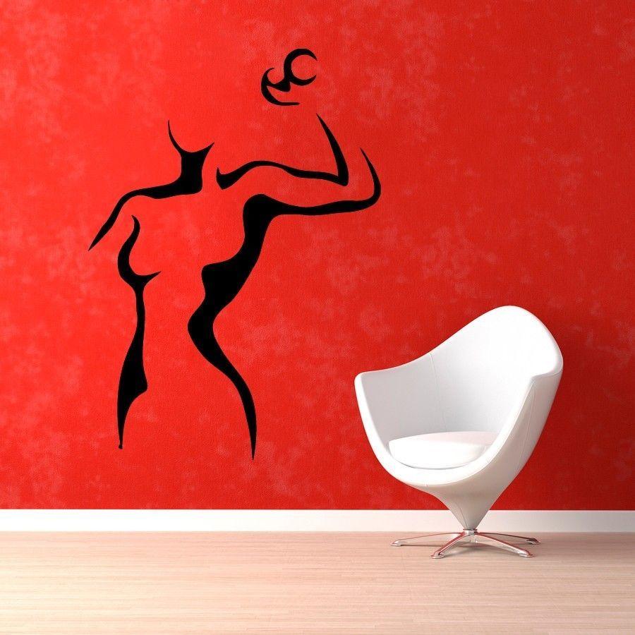 Wall Decals Girl Dumbbells Fitness Gym Vinyl Sticker Murals Decor KG163