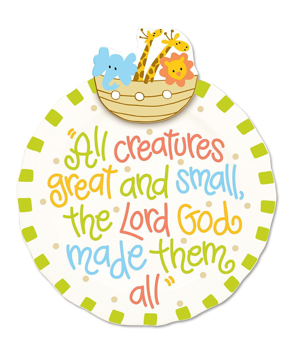 Noah\'s Ark 10.5\'\' Round Plate | Daily deals for moms, babies and ...