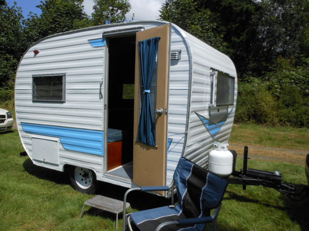 Restored 64 Cardinal Vintage Camper For Sale