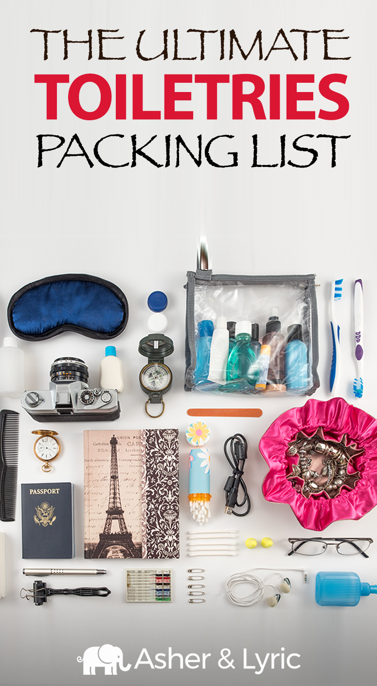 17 Top Toiletries Packing List Items + What NOT to Bring (2018 Update). What toiletries should you pack for your trip, and what can you leave at home? Save space and learn what you'll really need with our must-have travel toiletries packing guide.
