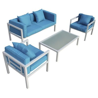 DG Casa Miramar 4 Piece Seating Group With Cushions
