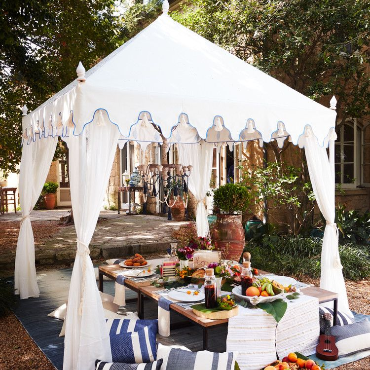 Rajasthani Pergola Tent White Tent Outdoor Patio Covering