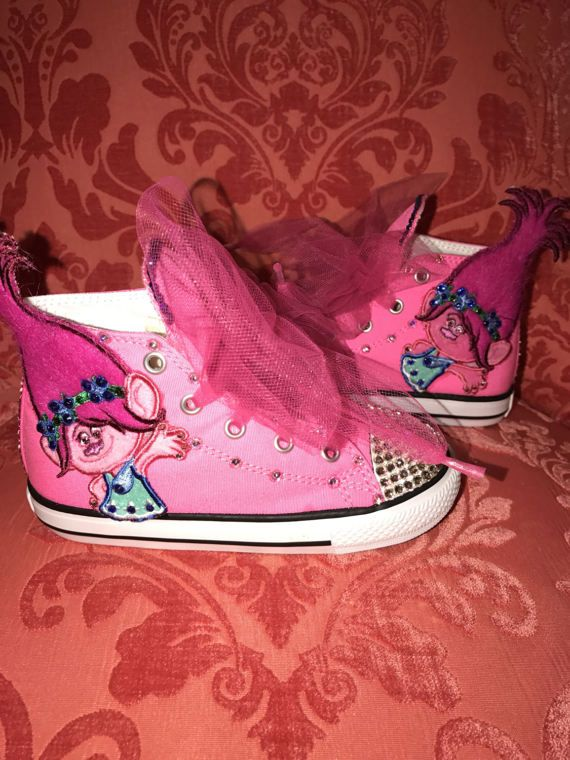 pink poppy troll sneakers for your little lady trolls princess