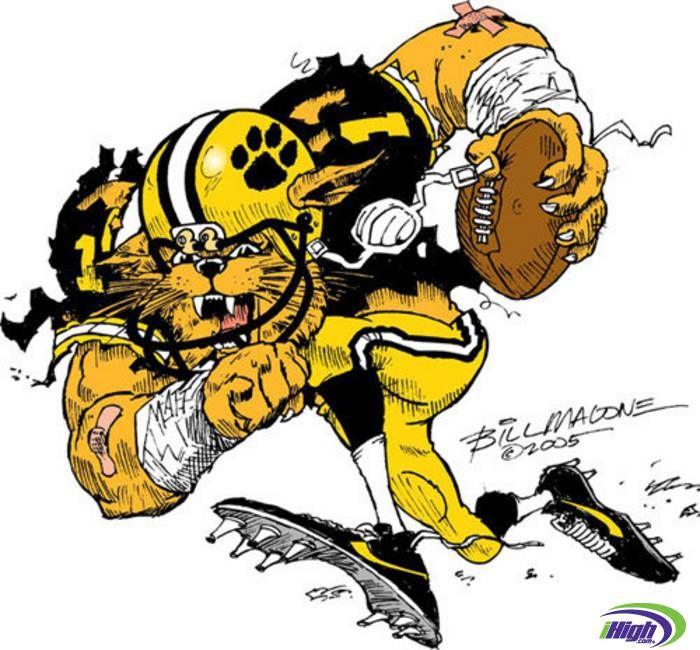 Wildcat Mascot Football Player holding Helmet Vector Image | Wildcats  football, Football helmets, Team mascots