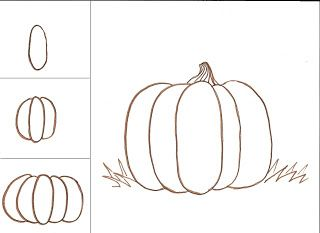 My Cles Love To Draw Pumpkins Teach Your Cl An Easy Way Make A Somewhat Rea