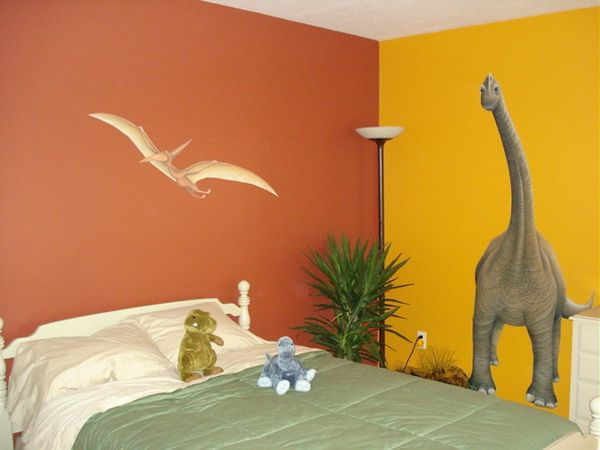 Dinosaur rooms for kids modern dinosaurs wall murals for Dinosaur mural ideas