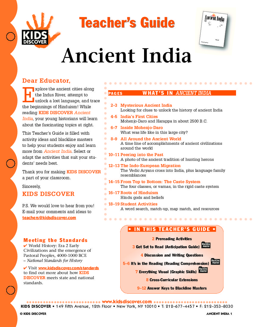 This Free Lesson Plan For Kids Discover Ancient India Provides A - 8 fun activities for kids in rome