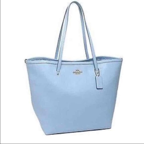0689125a5da8 Coach Light Blue Tote Purse NWT. Beautiful for spring summer. Also listed  on Ⓜ . Coach Bags Totes