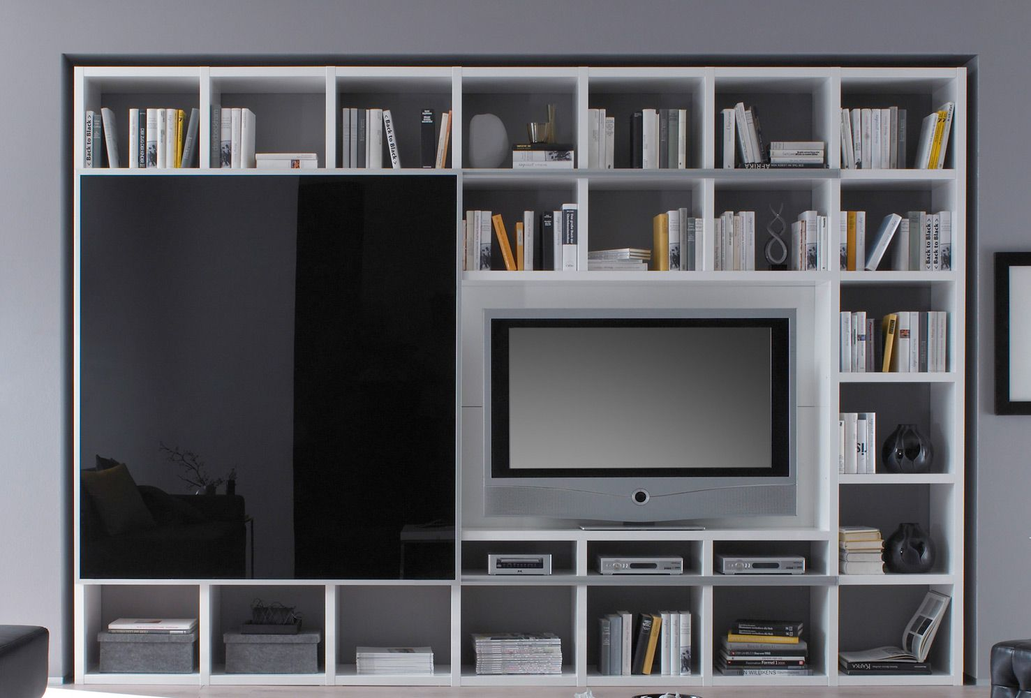 tv schrank schiebet r fif m bel b cherregal toro. Black Bedroom Furniture Sets. Home Design Ideas