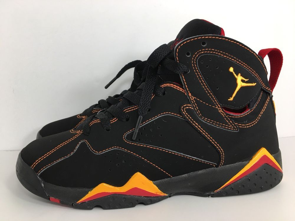 ... low cost nike air jordan vii 7 retro gs black red citrus 304774 081  youth size ... c6d6c3ca8