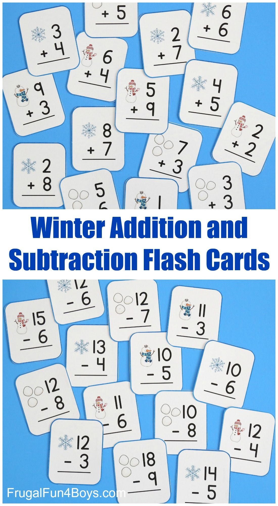 Snowball Addition And Subtraction Math Games