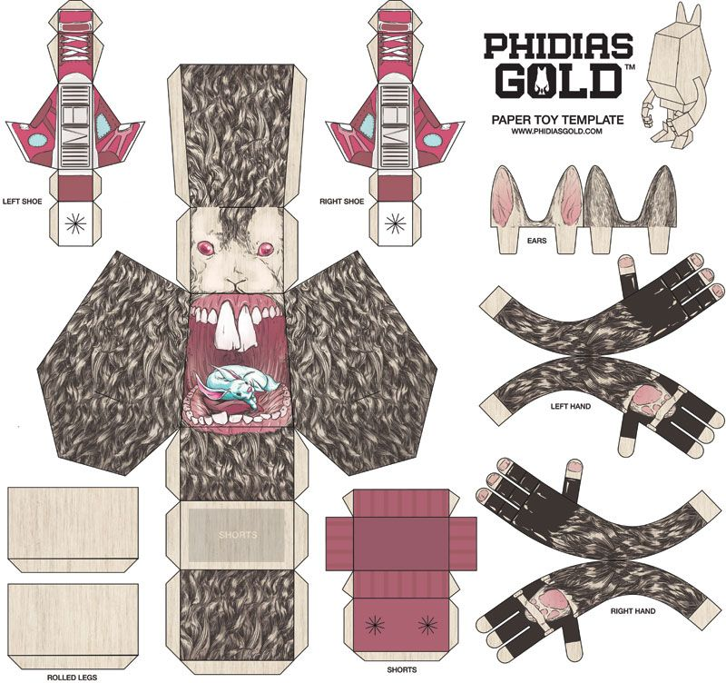 Matthew Byle: Phidias Gold paper toy