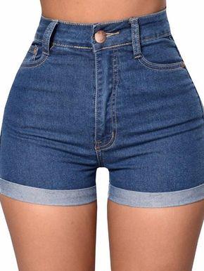 b255b3ba52aa9 Chellysun DIY denim shorts outfits high waisted tumblr distressed boyfriend  longer cut off denim shorts vintage curvy women loose denim shorts  denim  ...
