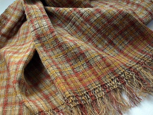 https://flic.kr/p/dAhTN5 | Shawl | nettle,silk,gold yarn natural dye textile-cocoon.com/