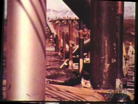 Trans Alaska Pipeline Progress Report views of the construction process
