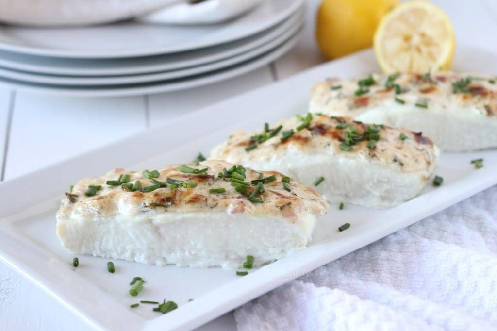 Baked Halibut With Herbed Mayonnaise Crust Recipe Seafood Meal 1 Halibut Recipes Fish Recipes Halibut