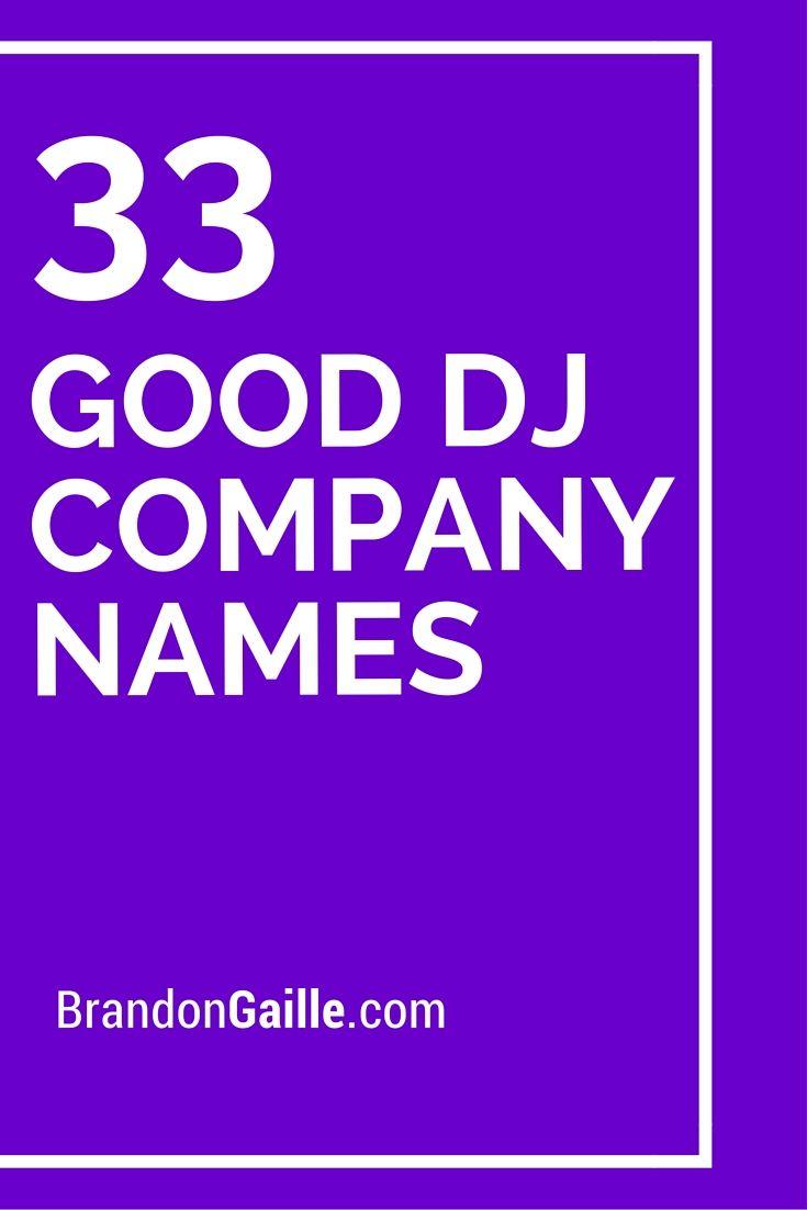 how to choose a good dj name