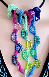 Tricorns and Lovebud Vines Styled as a Necklace