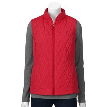 Croft & Barrow® Quilted Vest - Women's | C&B Fall/Holiday 15 ... : croft and barrow quilted vest - Adamdwight.com