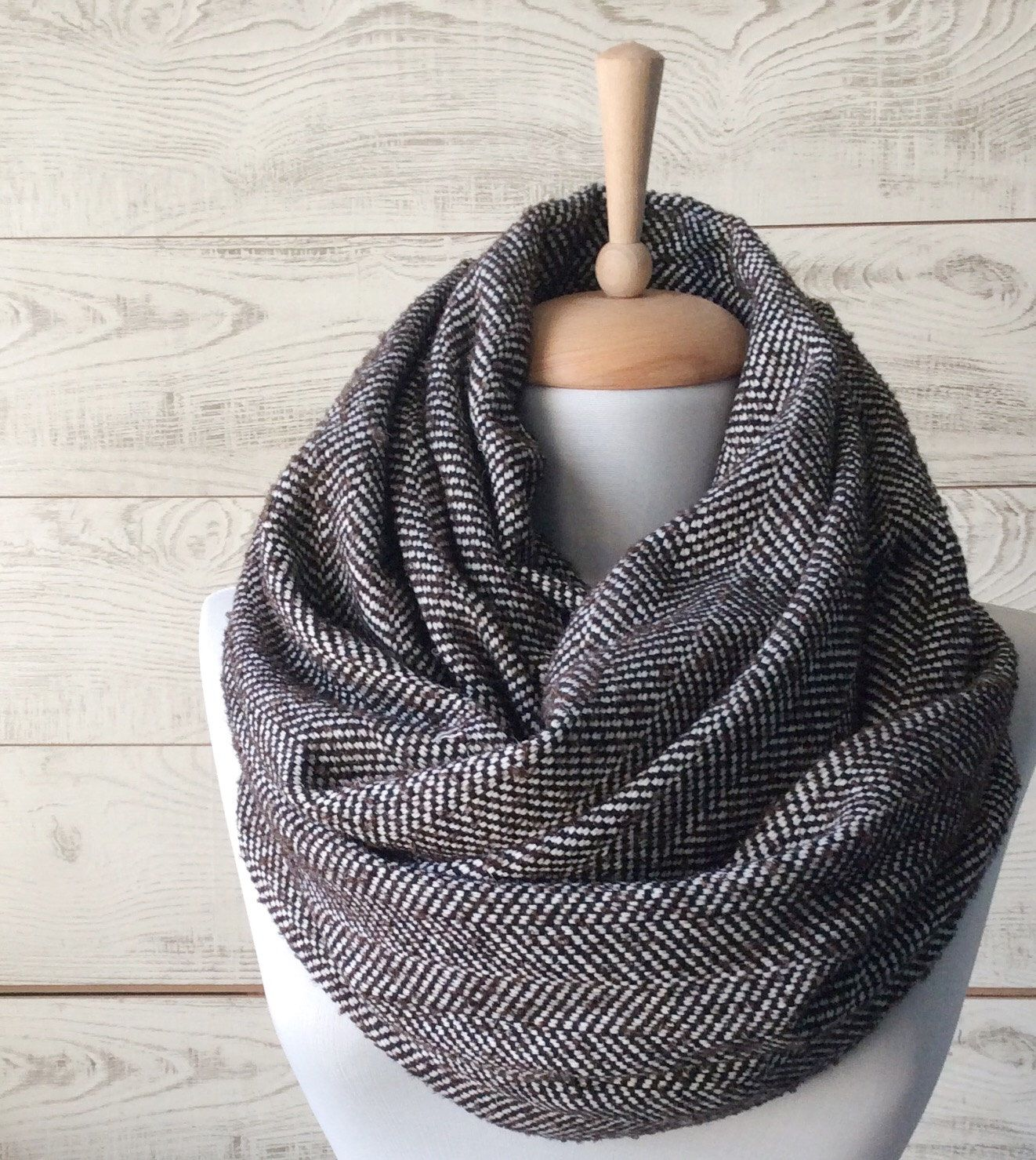 etsy s infinity chunky on by fashion mens scarf pin winter accessories to zukas circle items similar snood navy men