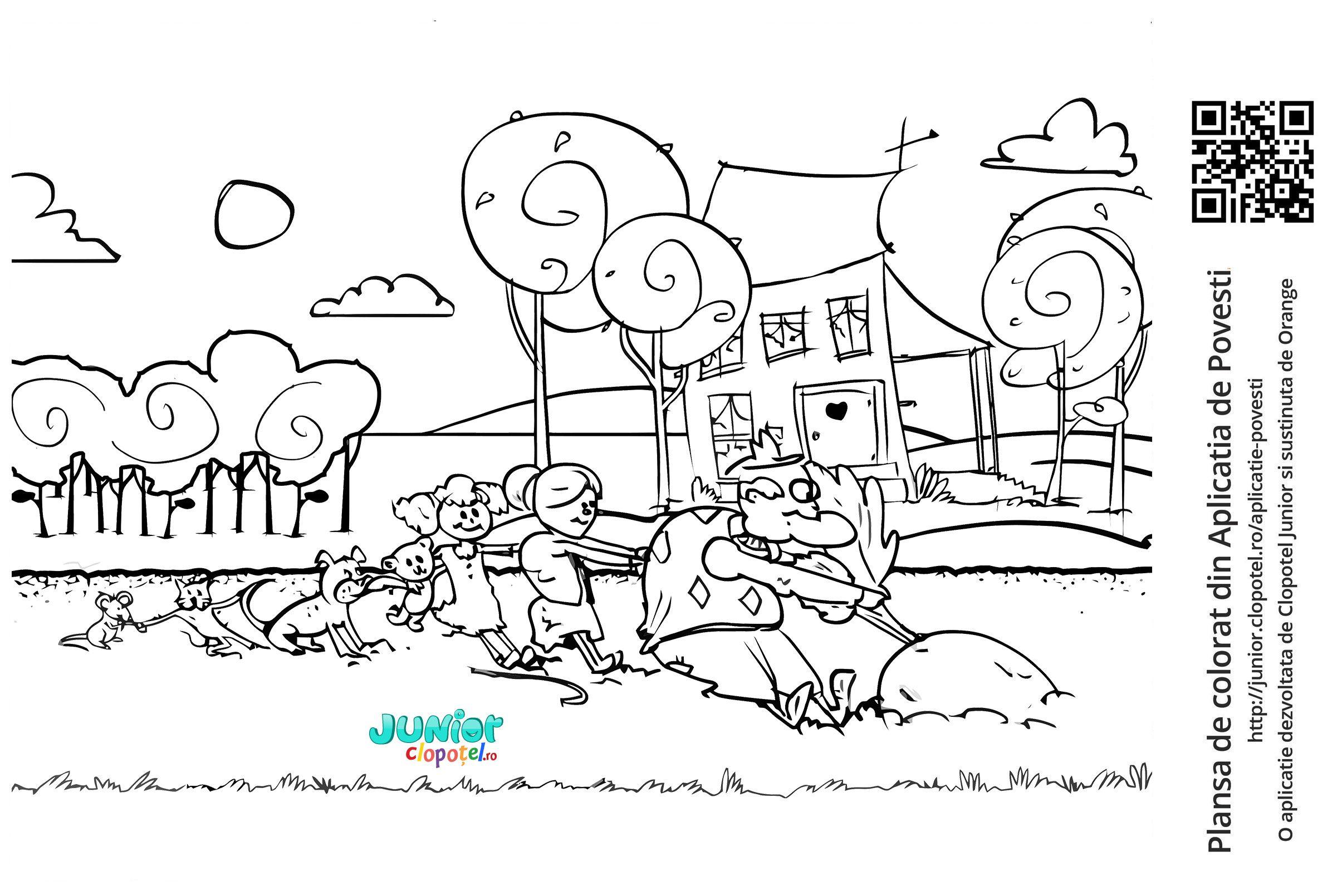 Imagini Pentru Desene De Colorat Ridichea Uriasa