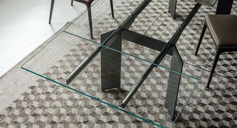 Pk454 muebles donostia. mesa de comedor con tablero de cristal ...