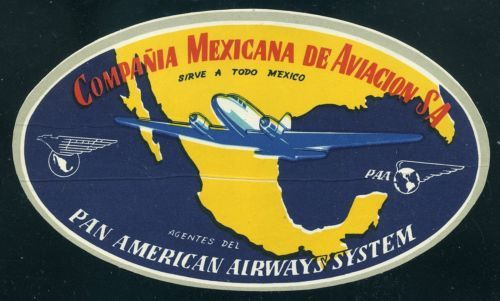 """Mexicana Airlines Pin Back 2 1//4/"""" Retro"""