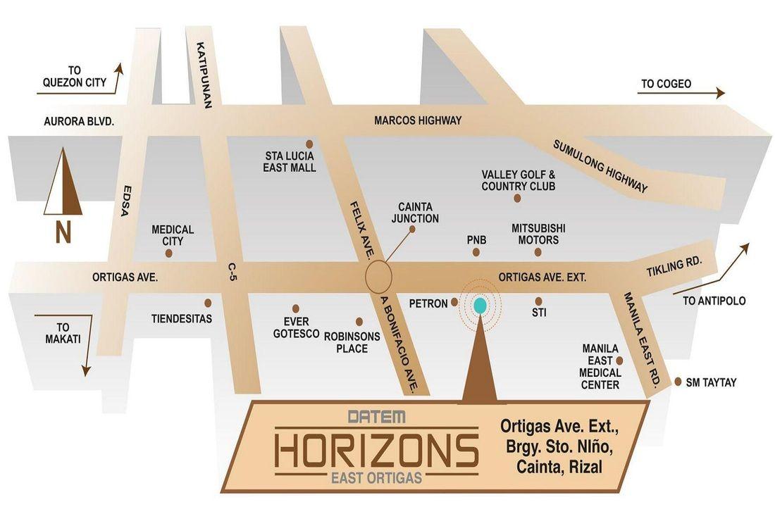 Picture Location map, Horizons, Ortigas center