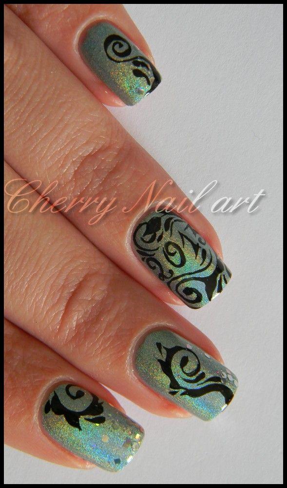 nail art holographique 2013 nouvel an bonne année reveillon